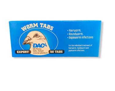 DAC wormtabletten voor duiven blister 50 stuks (nieuwe verpakking)
