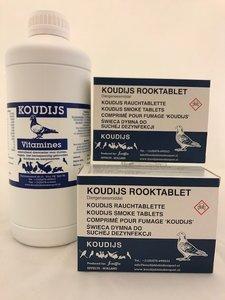 Koudijs ACTIE (2 x rooktablet en 1 koudijs vitamine 1 liter